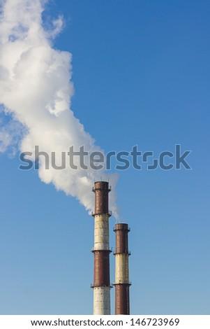 factory chimney - stock photo