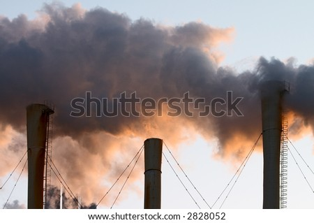 Factory chimney making air pollution