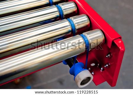 Factory Conveyor Belt - stock photo