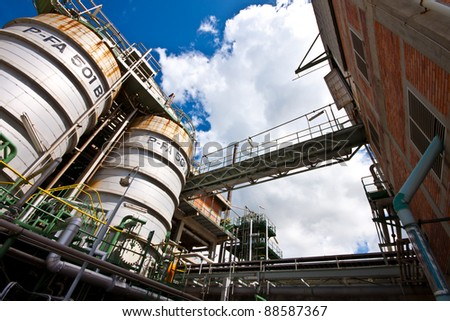 factory detail - stock photo