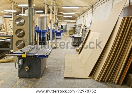 factory for the manufacture of furniture