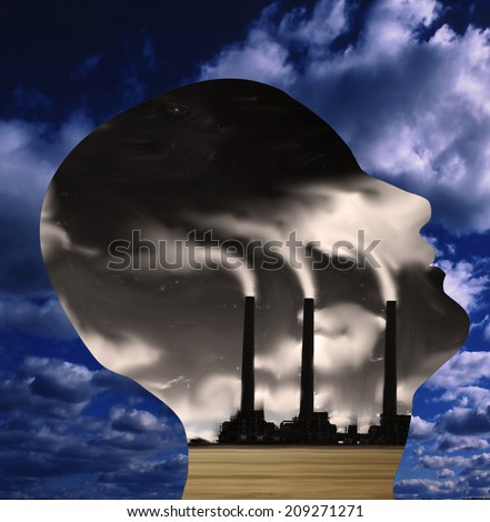 Factory Head - stock photo