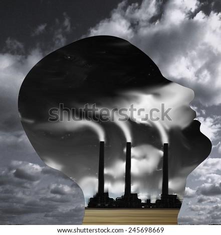 Factory Head - stock photo