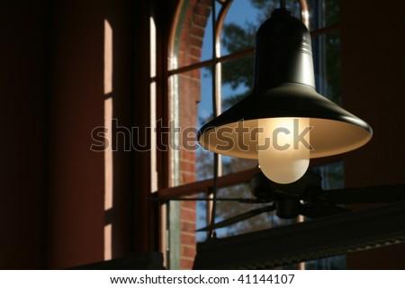 Factory Lamp - stock photo