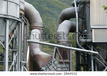 factory of the industrial world - stock photo
