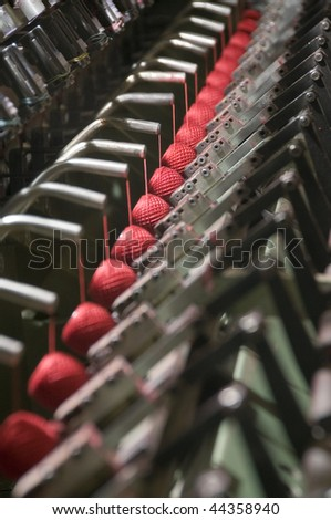 Factory on manufacture of threads - stock photo