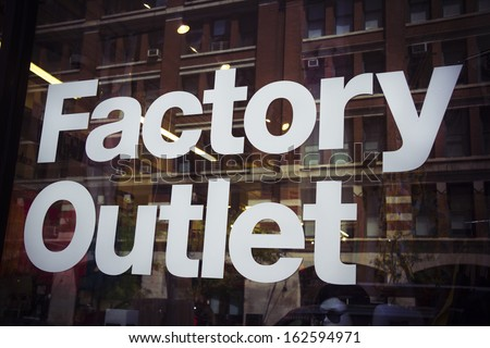 Factory outlet - stock photo