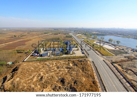 factory overhead view in Luannan, Hebei, China