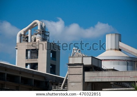 factory producing cement now disused