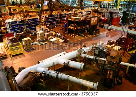 Factory Production Floor - stock photo