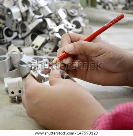 Factory quality inspection  - stock photo
