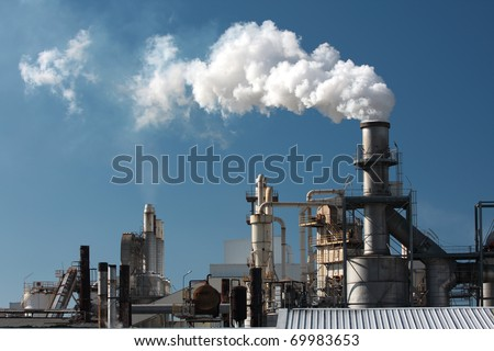 factory smoke pipe 5 - stock photo