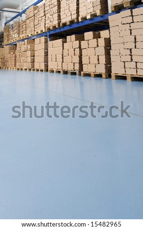 factory storage - stock photo