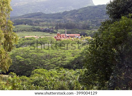 Factory - the museum on production of rum. Mauritius - stock photo