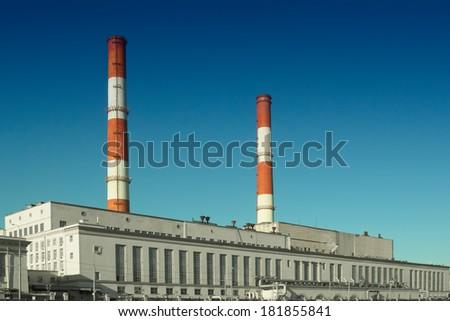 Factory tubes - stock photo