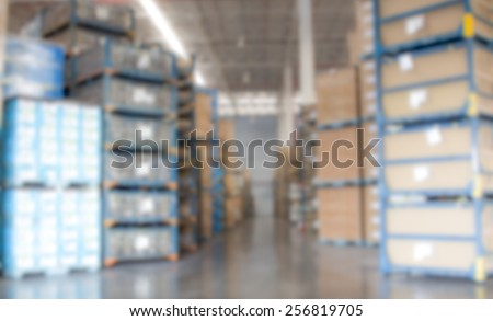 factory warehouse for appearance blur - stock photo