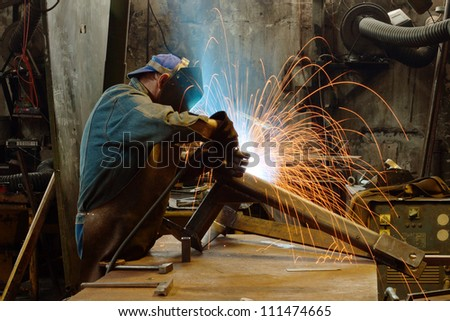 Factory welder - stock photo