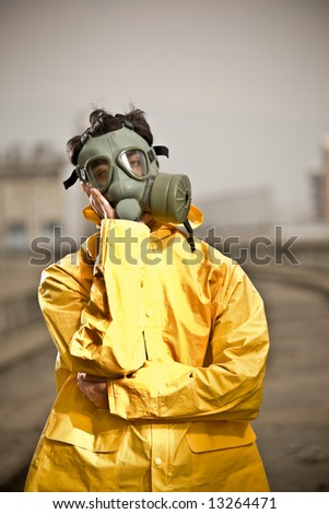 Factory worker wondering - stock photo