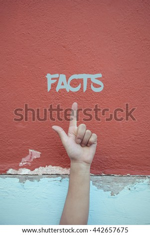 Facts. - stock photo