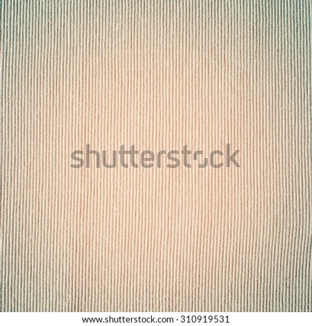 Fade Dense Striped Fabric, Unbleached Linen,Textile Texture with Beige Vertical Stripes. Grunge vintage background - stock photo