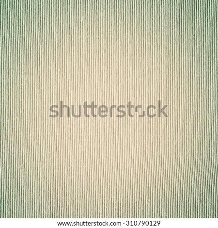 Fade Dense Unbleached Linen Textile with Beige Vertical Stripes. Grunge vintage background - stock photo