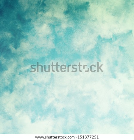 Faded clouds grunge background - stock photo