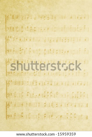 faded music background - stock photo