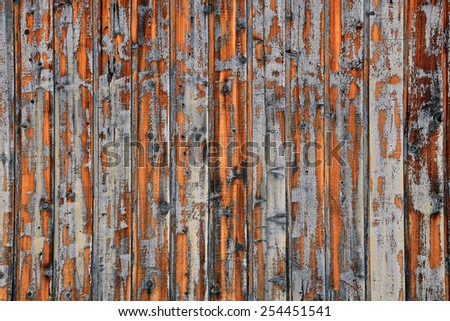 Faded old wooden wall background. - stock photo