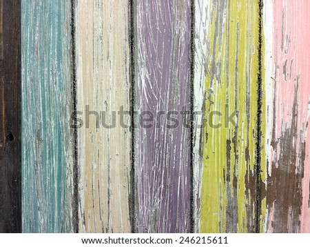 faded paint on weathered wood - stock photo