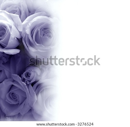 faded purple floral rose bouquet for background, photo illustration - stock photo