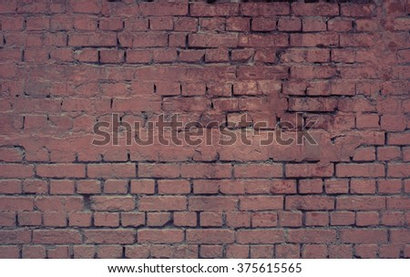Faded red worn brick wall texture background.  - stock photo