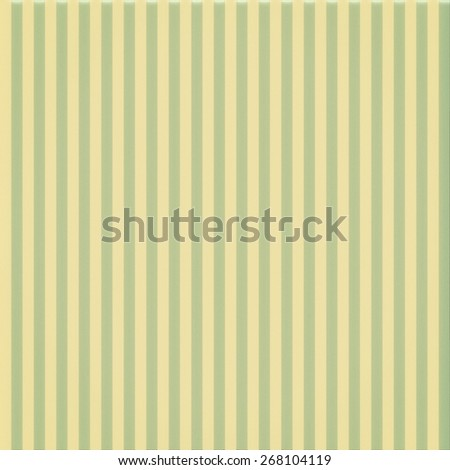 faded vintage green and beige striped background,  with noisy distressed texture with white center spot, cute Christmas background - stock photo