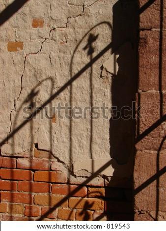 Fading Ironic Shadows - stock photo