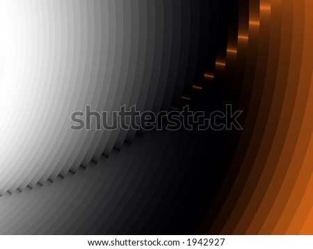 Fading Line to Orange - High Resolution Illustration.  Suitable for graphic or background use.  Click the designer's name under the image for various  colorized versions of this illustration. - stock photo