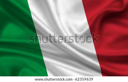 Fahne Flagge Italien - stock photo