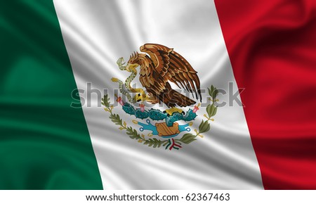 Fahne Flagge Mexiko - stock photo