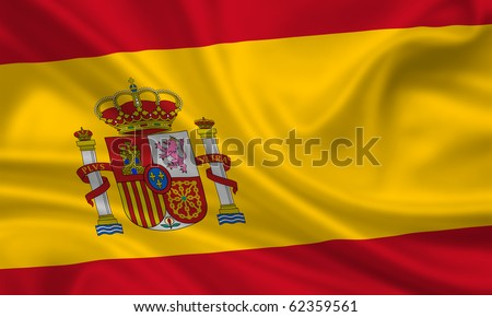 Fahne Flagge Spanien - stock photo