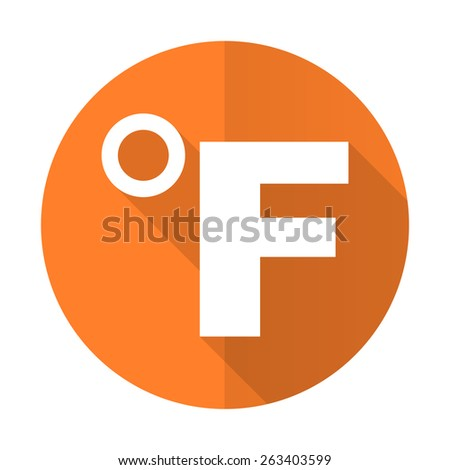 fahrenheit orange flat icon temperature unit sign