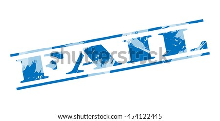 fail blue stamp on white background - stock photo