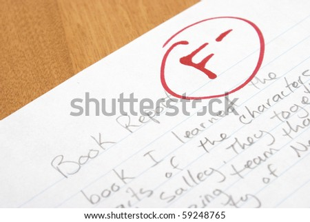 Failed Book Report - stock photo