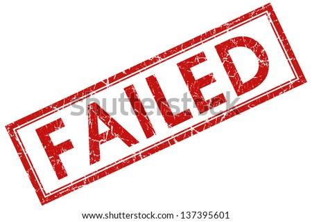 failed stamp - stock photo