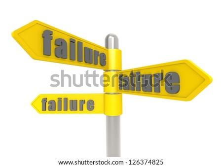 Failure - stock photo