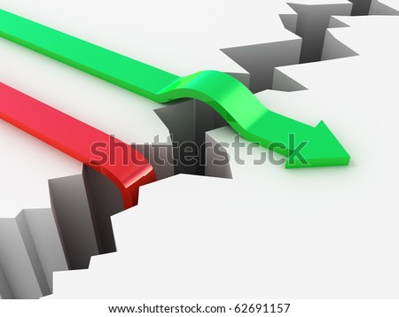 Failure and Success competition concept - stock photo