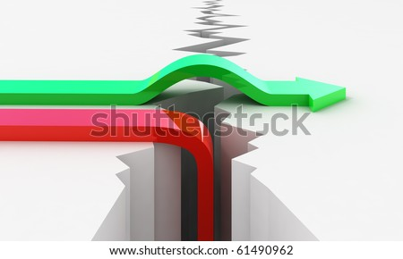 Failure and Success concept - stock photo