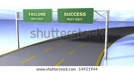 failure - success - stock photo