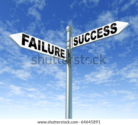 failure success signpost