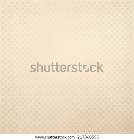 faint white background pattern design, small square blocks of light brown or beige on off white paper, macro or detail faded graphic art design canvas, checkerboard or checkered pattern - stock photo