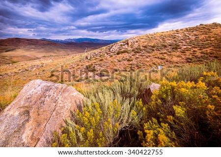 Fair Field Idaho Landscape - stock photo