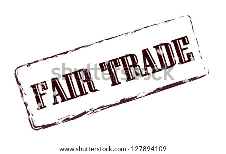 Fair trade brown stamp - stock photo