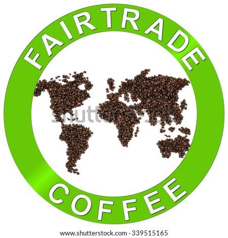 Fair trade coffee beans - stock photo
